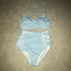 NEVER WORN VS PINK! High waisted bikini